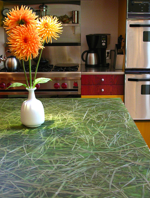 grass resin kitchen countertops